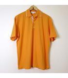 サルヴァトーレフェラガモ Salvatore Ferragamo ポロシャツ 半袖 ロゴ 刺繍 コットン M 黄色 イエロー 鹿の子