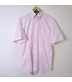 ニューヨーカー NEWYORKER シャツ ワイシャツ ボタンダウン 半袖 L ピンク 襟内 チェック柄 国内正規品