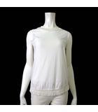 ダブルスタンダードクロージング ダブスタ DOUBLE STANDARD CLOTHING カットソー Tシャツ ノースリーブ フリンジ M 白 ホワイト
