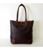 ゼットイーアール ZER バッグ トートバッグ ショルダーバッグ 本革 レザー ダークブラウン こげ茶色 かばん 鞄 カバン