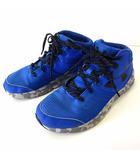 アンダーアーマー UNDER ARMOUR スニーカー シューズ ハイカット ロゴ カモフラ柄 ソール 24.0 青 ブルー くつ 靴 シューズ