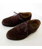 リーガル REGAL シューズ 革靴 ビジネスシューズ ウイングチップ 本革 スエード レザー 23.5 EEE シガーブラウン こげ茶色 紳士 ビジネス くつ 靴 小さいサイズ
