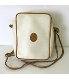 トラサルディ TRUSSARDI バッグ ミニ ショルダーバッグ ポシェット ロゴ PVC レザー オフ白 ブラウン かばん 鞄 カバン