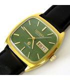 シチズン CITIZEN 腕時計 CRYSTRON クリストロン クオーツ レザーベルト 紳士 ウォッチ