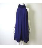 ラシュッド LA SUD スコットクラブ ワンピース ドレス ノースリーブ ホルターネック ペチコート付 シフォン レース フリル フレア 9 M 紫 パープル 美品