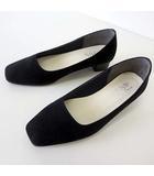 ジェリービーンズ JELLY BEANS Style パンプス スエード ローヒール 22.5 黒 ブラック くつ 靴 シューズ