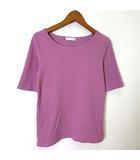 アクアガール aquagirl カットソー Tシャツ ハーフスリーブ 半袖 リブ ラウンドネック ストレッチ M ピンク