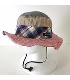 コロンビア Columbia ハット 帽子 サファリハット パッチワーク L グレー ベージュ ピンク ぼうし