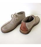 クラークス clarks デザートトレック Desert Trek シューズ モカシン デザートブーツ 本革 スエード レザー 26.5 グレー 茶色 ブラウン US 8.5 くつ 靴