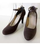 ジェリービーンズ JELLY BEANS パンプス ハイヒール スエード レザー アンクルベルト 23.5 モカブラウン ココア くつ 靴 シューズ