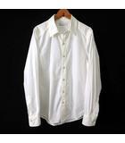 ロンハーマン Ron Herman シャツ カジュアルシャツ 長袖 ワイシャツ S 白 ホワイト 猫目ボタン