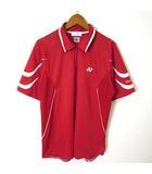ヨネックス YONEX Tシャツ 半袖 ハーフジップ Very COOL ロゴ イラスト M 赤 レッド バドミントンウエア テニスウエア