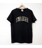 スワッガー SWAGGER Tシャツ カットソー 半袖 ロゴ 迷彩 カモフラ柄 X 黒 ブラック