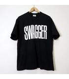 スワッガー SWAGGER Tシャツ カットソー 半袖 ロゴ プリント X 黒 ブラック 白