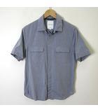 スティルバイハンド STILL BY HAND シャツ 半袖 比翼ボタン コットン 48 M-L ブルーグレー