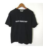 クーティー COOTIE クーティープロダクションズ COOTIE PRODUCTIONS Tシャツ 半袖 ロゴ S 黒 ブラック 白 日本製