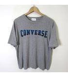 コンバース CONVERSE Tシャツ 半袖 ロゴ フロッキー XL グレー 青 大きいサイズ