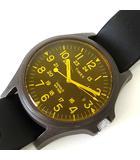 タイメックス TIMEX 腕時計 INDIGO CR2016-CELL ラバーベルト クオーツ 黒 ブラック オレンジ ウォッチ