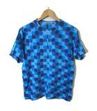 チェンジング タイム CHANGING TIMES Tシャツ 半袖 タイダイ 総柄 F 紺 ブルー 水色 日本製