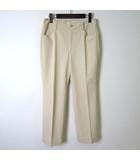 ビースリー B3 B-Three パンツ ストレッチパンツ 美脚 テーパード センタープレス ポケット付 M アイボリー