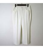 ビースリー B3 B-Three パンツ ストレッチパンツ 美脚 テーパード センタープレス ポケット付 M 白 ホワイト