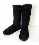 アグ オーストラリア UGG australia ブーツ ニットブーツ ムートン ドッキング 23.0 黒 ブラック くつ 靴 シューズ 正規品
