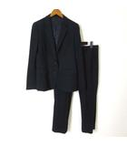 ユニクロ UNIQLO スーツ 上下セットアップ ジャケット ブレザー パンツ ストレッチ L 紺 ネイビー 白 ホワイト