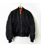 アルファ ALPHA MA-1 ジャケット フライトジャケット ブルゾン リバーシブル S 黒 ブラック オレンジ