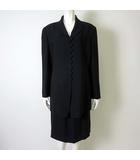 EXELANCETTI エグゼランチェッティ ブラックフォーマル 上下セットアップ スーツ スカート ジャケット XL 黒 ブラック 大きいサイズ 美品