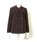 コルディア CORDIER コート ジャケット ピーコート アンゴラ ウール 長袖 42 XL 茶 ブラウン 大きいサイズ