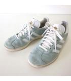 アディダス adidas スニーカー シューズ GAZELLE ガゼル スエード 22.5 サックスブルー 水色 白 ホワイト くつ 靴