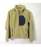 コロンビア Columbia ジャケット アーチャーリッジジャケット PM3743 フリース ボア 中綿 ダブルジップアップ ロゴ 長袖 S ベージュ 紺 ネイビー 国内正規品 美品