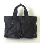 ポーター PORTER バッグ ハンドバッグ タンカー ナイロン ロゴ 黒 ブラック オレンジ かばん 鞄 カバン