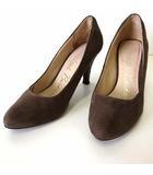 ブリジットバーキン Bridget Birkin パンプス ハイヒール 本革 スエード レザー グリッター ヒール 装飾 24.0 モカブラウン こげ茶色 くつ 靴 シューズ