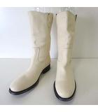 アラウンドザシューズ around the shoes ブーツ ペコスブーツ ロングブーツ 本革 レザー 42 オフ白 オフホワイト 27.0cm くつ 靴 シューズ