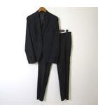 スーツセレクト SUIT SELECT パンツスーツ 上下セットアップ ジャケット テーラード パンツ センタープレス ウール M チャコールグレー 美品