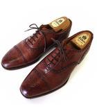 グレンソン GRENSON シューズ ビジネスシューズ 革靴 ウイングチップ 本革 レザー 8 F ブラウン 茶色 27.0cm 英国製 紳士 ビジネス くつ 靴