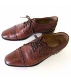 アンドロジナス androgynous シューズ ビジネスシューズ 革靴 キャップトゥ 本革 レザー イタリア製 41.5 茶色 ブラウン 27.0cm くつ 靴