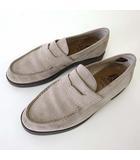 ハッシュパピー Hush Puppies OTSUKA ローファー ビジネスシューズ 革靴 シューズ 本革 スエード レザー 26.5 ライトグレー くつ 靴