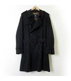 バーバリー BURBERRY コート トレンチコート 裏ノバチェック M 黒 チャコールブラック 紳士 ビジネス アウター 国内正規品