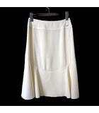 シャネル CHANEL スカート フレアスカート ロング ロゴ プレート S 36 アイボリー 国内正規品