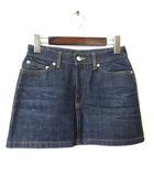 アーペーセー A.P.C. スカート ミニスカート デニム ペンシル XS インディゴブルー 小さいサイズ