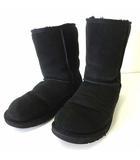アグ オーストラリア UGG australia ブーツ ムートンブーツ ミドル 本革 レザー 26.0cm 黒 ブラック US 9 くつ 靴 シューズ