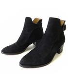 チェンバー CHEMBUR ブーツ ブーティ ショートブーツ 本革 スエード レザー 36 黒 ブラック 23.0cm くつ 靴 シューズ 日本製
