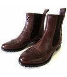 バーニーズニューヨーク BARNEYS NEW YORK ブーツ カントリーブーツ サイドゴアブーツ 本革 レザー 35.5 ダークブラウン こげ茶色 23.0cm くつ 靴 シューズ