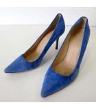 ジェイクルー J.CREW パンプス ピンヒール ハイヒール 本革 スエード レザー 7.5 青 ブルー 24.0cm くつ 靴 シューズ