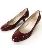 ブルーノマリ BRUNO MAGLI パンプス エナメル レザー アーモンドトゥ 35 ボルドー 赤 22.5cm くつ 靴 シューズ