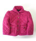 ジャケット キルティング 中綿 ジャンパー ポニー 刺繍 ロゴ ボタン 長袖 100cm ピンク 子供服 キッズ 女の子 国内正規品