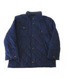 ジャケット キルティング 中綿 ジャンパー ポニー ロゴ 刺繍 120cm 紺 ネイビー 子供服 男の子 女の子 国内正規品
