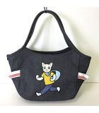 サボイ SAVOY バッグ トートバッグ ネコ 刺繍 キャンバス 紺 ネイビー かばん 鞄 カバン